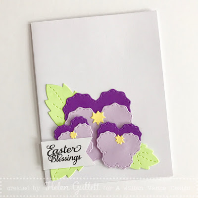 Easter Blessings with Pansy Flowers