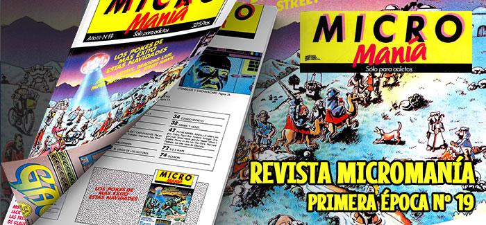 Revista Micromanía Primera época Nº 19 (1987)