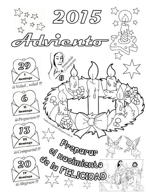 Parroquia la inmaculada calendarios de adviento 2 for Calendario adviento ninos