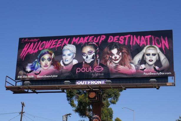 Pout Halloween Makeup Destination billboard