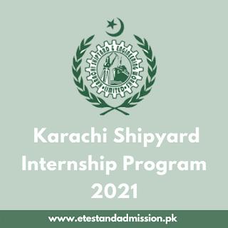 Karachi Shipyard Internship Program 2021