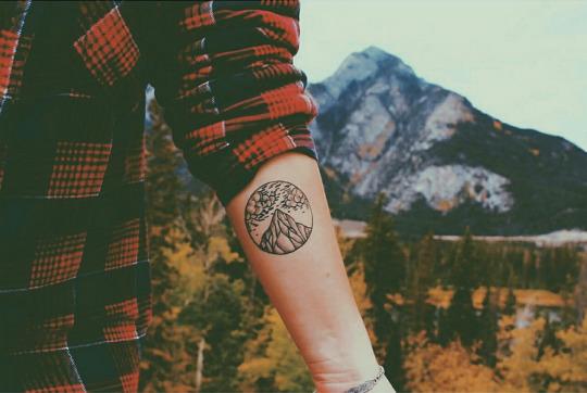 Beautiful Mountain Tattoo on Arm