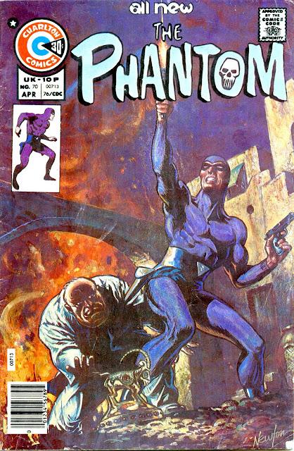 The Phantom v2 #70 charlton comic book cover art by Don Newton