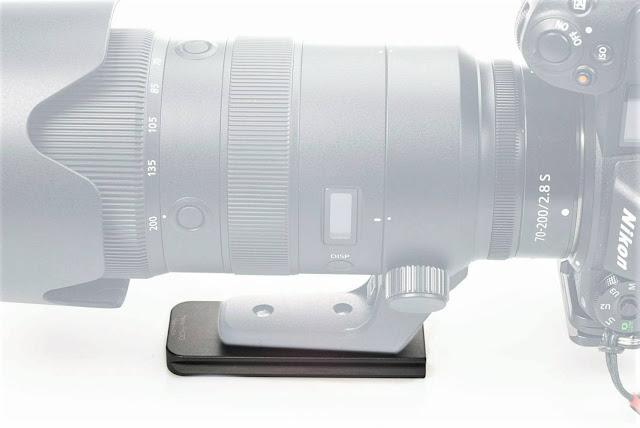 Hejnar H132QD Lens Plate on Nikon Z 70-200mm f2.8