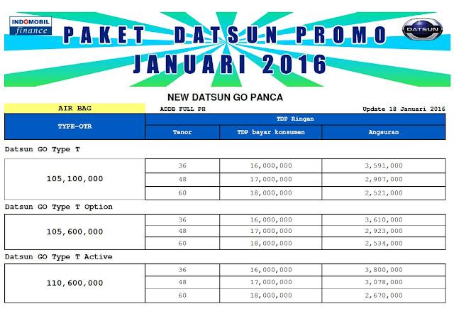 HARGA DATSUN GO 2016