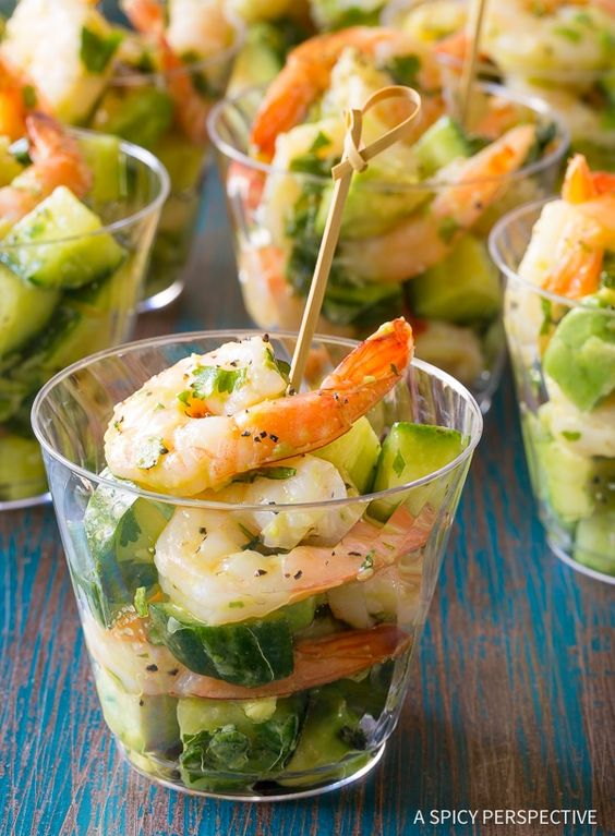 Healthy Garlic Lime Roasted Shrimp Salad Recipe for Spring and Summer!
