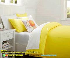 Sprei Custom Katun Jepang Dewasa Polos Kuning