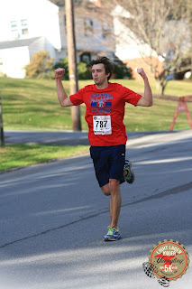 Tony Florida running the Yuengling Lager Jogger 5k in 2015