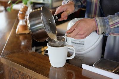 ラトリエ・デ・サンス コーヒーの淹れ方講座 カフェオレにも挑戦