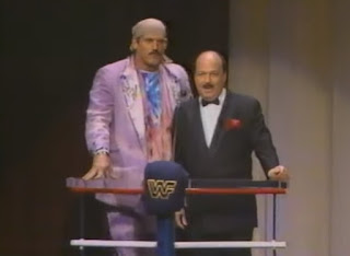 WWF - Slammy Awards 1987 - Jesse 'The Body' Ventura and Mean Gene Okerlund