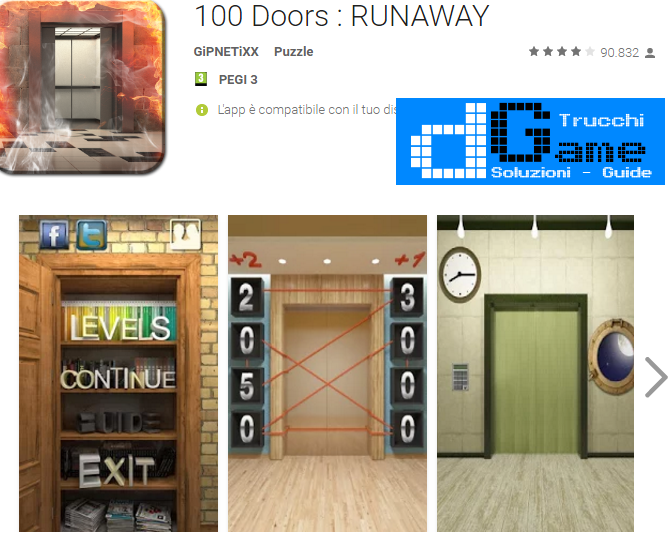 Soluzioni 100 Doors: RUNAWAY livello 11-12-13-14-15-16-17-18-19-20 | Trucchi e Walkthrough level