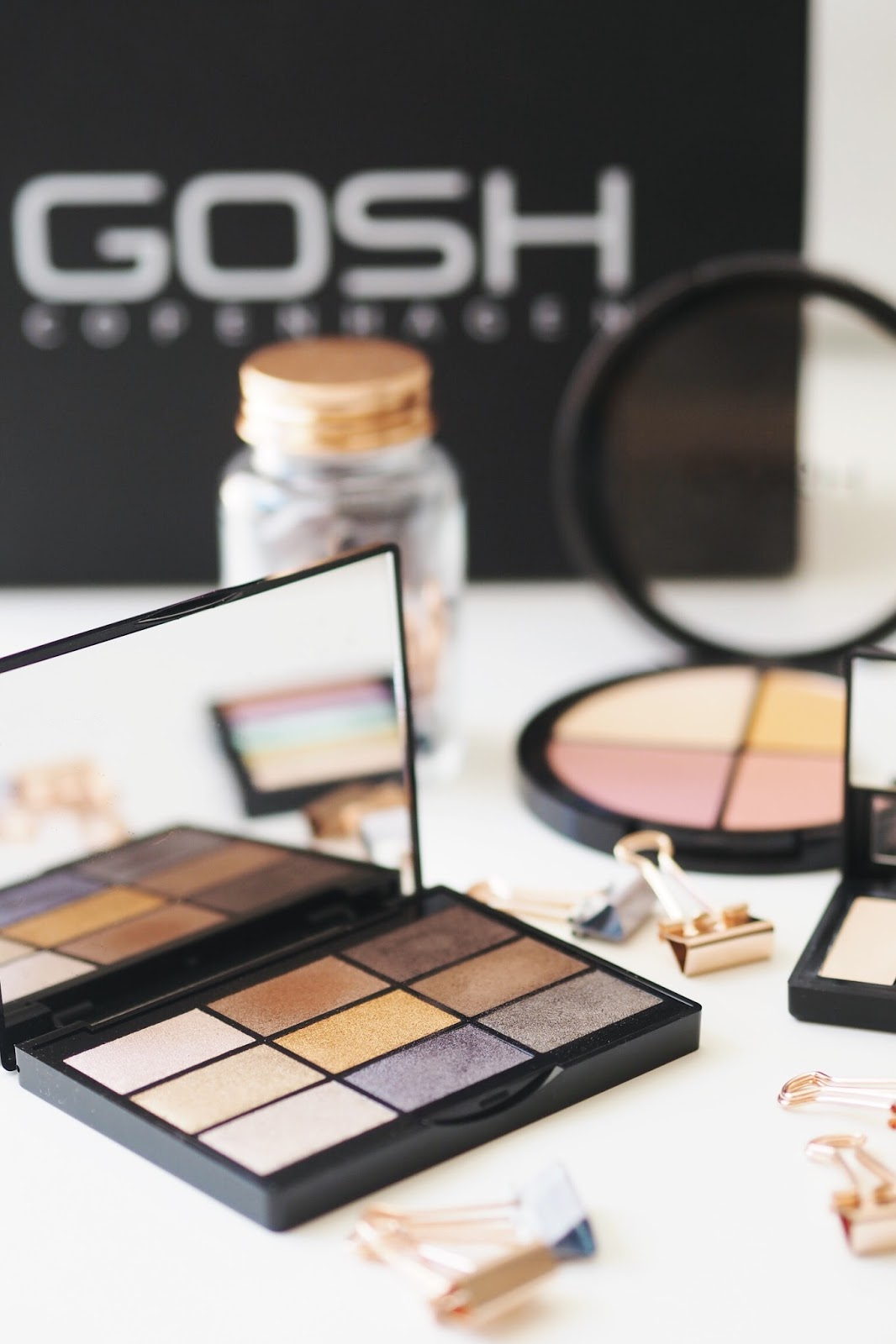GOSH palettes review autumn winter colour correcting kit eyeshadow palette blush highlighter