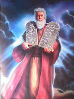 Moses gives the Ten Commandments to Israel