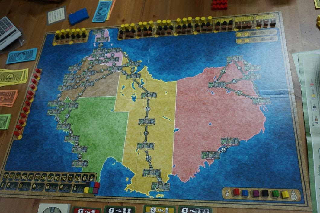 i dont own the australia india expansion but i had a chance to try it when ivan brought it to boardgamecafenet the cities on the australian map look