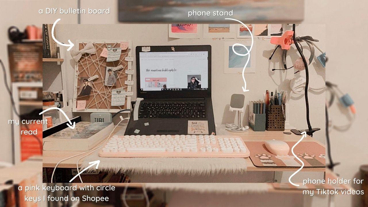 Anatomy of Renee's Desk Space