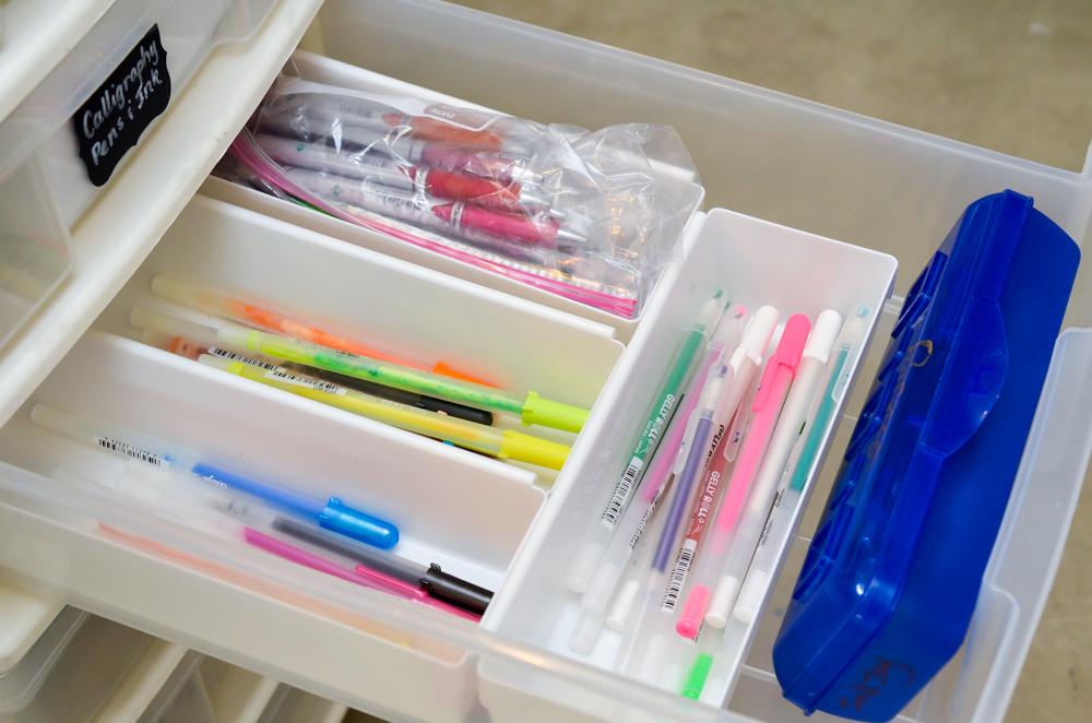 ideas for storing gel pens