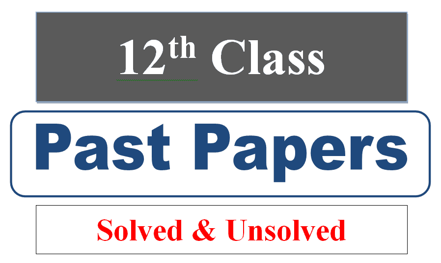 2nd year class 12 solved past papers pdf download