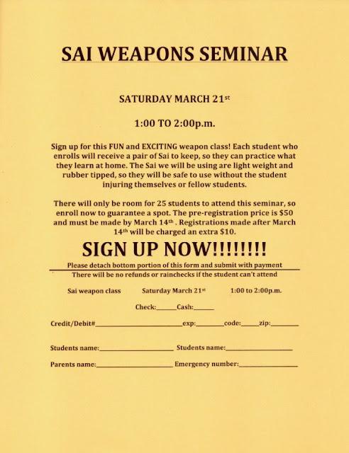 NFMA SAI Weapons Seminar 2020