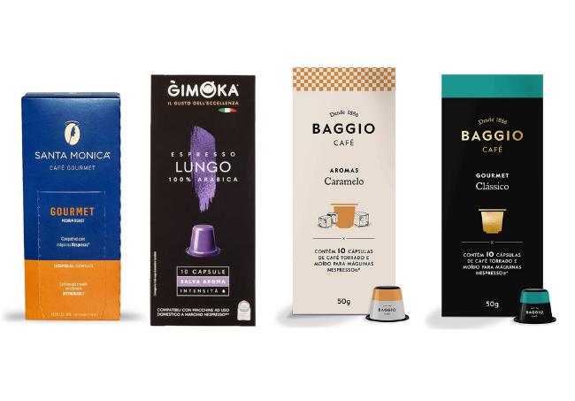 Exemplos de capsulas compatíveis com Nespresso - Mas existem muito mais
