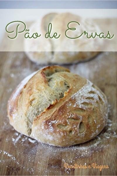 Receita de pão de ervas frescas verdes
