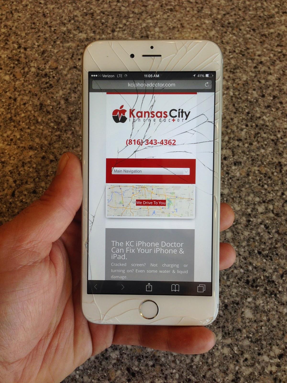 Kansas City IPhone Doctor: Cracked IPhone 6 Plus