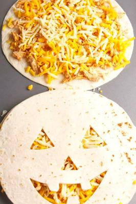 Halloween Jack-O'-Lantern Quesadillas Recipe