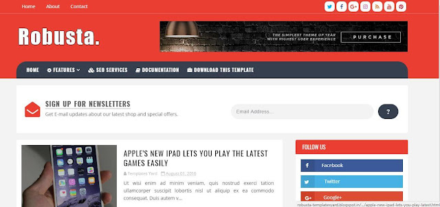 Robusta Blogger Template