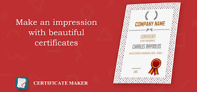 Create a professional certificate with free certificate templates provided in this powerful certificate maker.