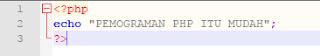 Belajar Pemograman Web PHP untuk pemula