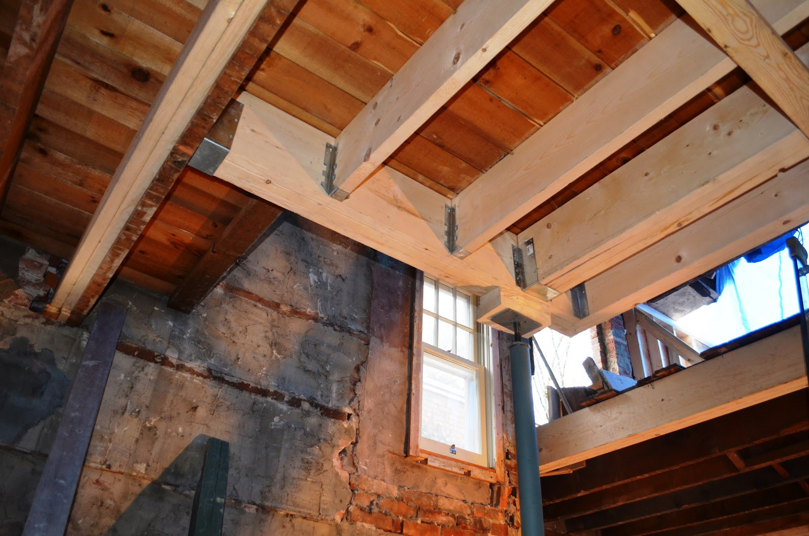 The Bennett House Beams And Stair Design