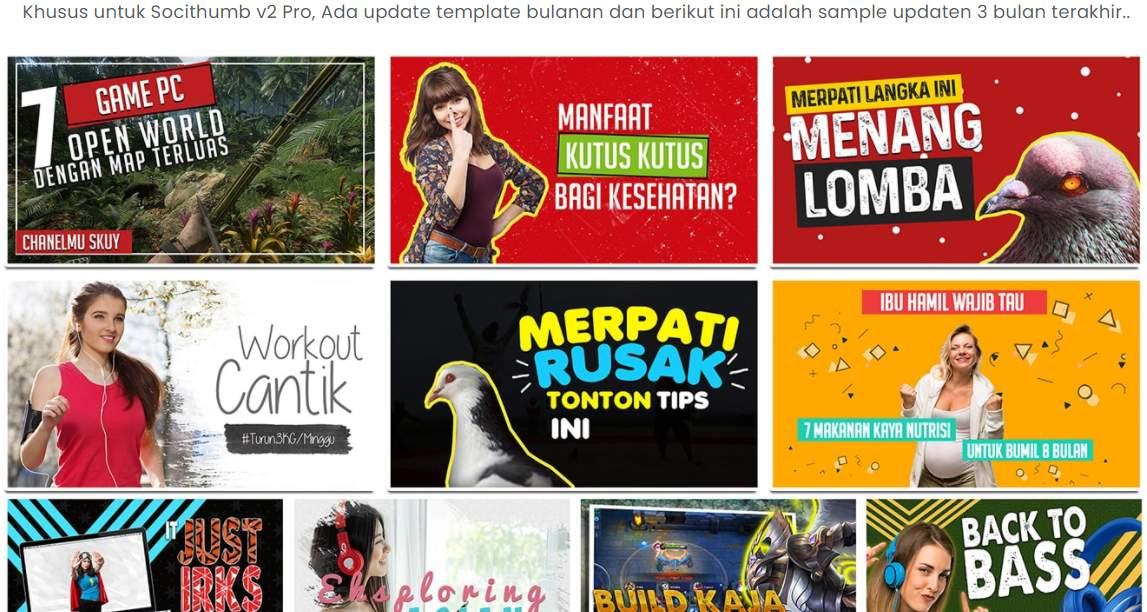Kumpulan Template Desain Thumbnail Youtube Keren Menarik Berkualitas Siap Pakai Cuma 300ribuan Saja