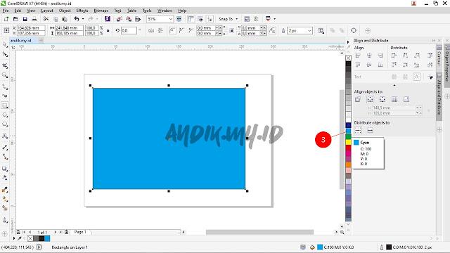 corel draw, tutorial corel draw, membuat efek gradasi, gradient, gradasi warna