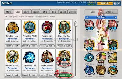 Cara Menggunakan Sistem Gear Evolution Lost Saga Indonesia
