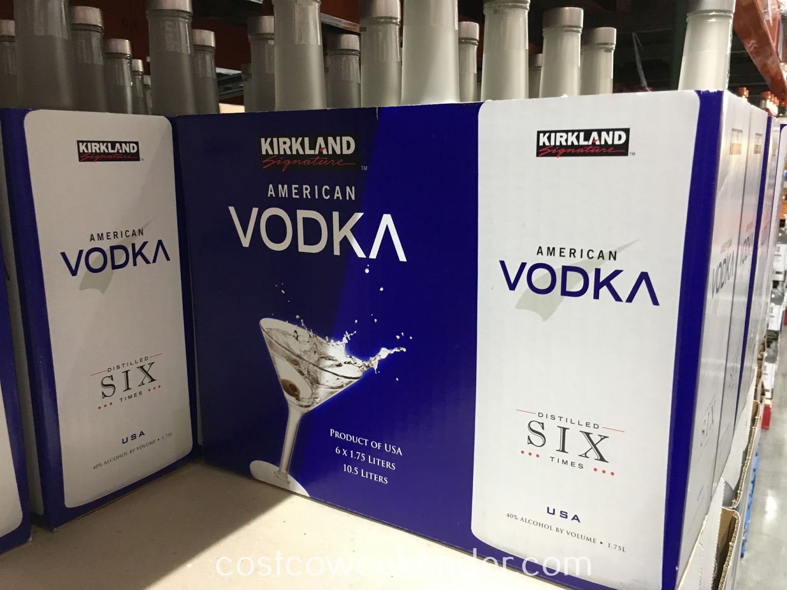 Enjoy the smooth taste of Kirkland Vodka