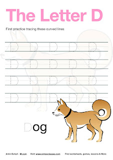 Practice Tracing The Letter D Free Download.