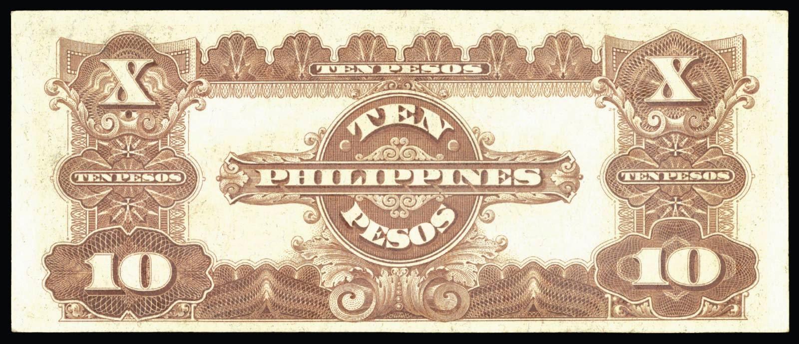 1941 Philippines Ten Pesos bank note Treasury Certificate