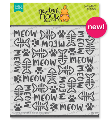 Meow Stamp Set Stamp Set by Newton's Nook Designs #newtonsnook
