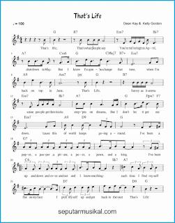 chord that's life 1 lagu jazz standar