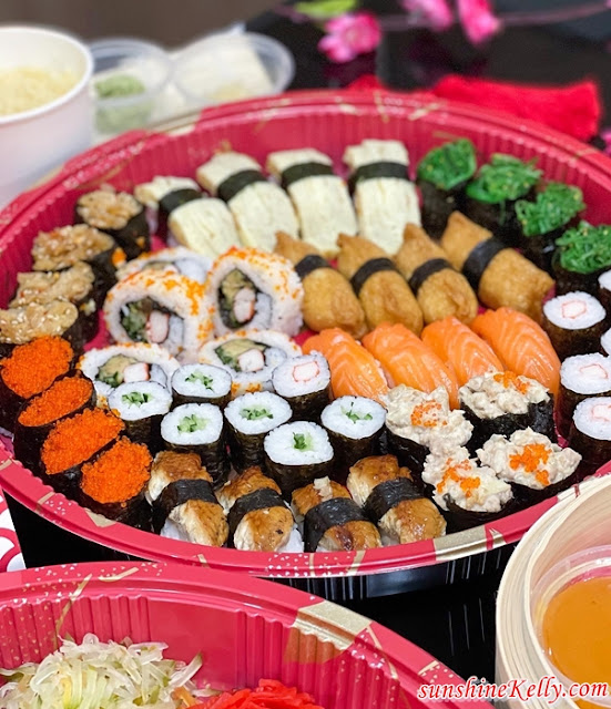 Salmon Fortune Salad Yee Sang,  Sushi Platter, Eyuzu Japanese Cuisine, Eastin Hotel Kuala Lumpur, CNY Takeaway Review, CNY Food Review, Foo