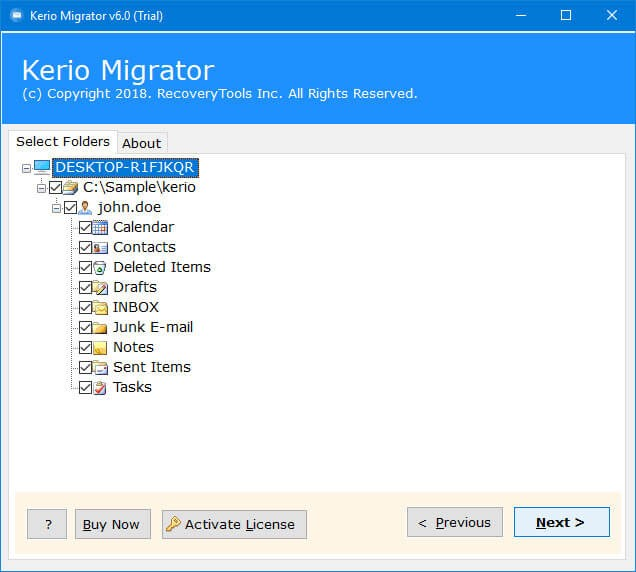 transfer Kerio connect to another server