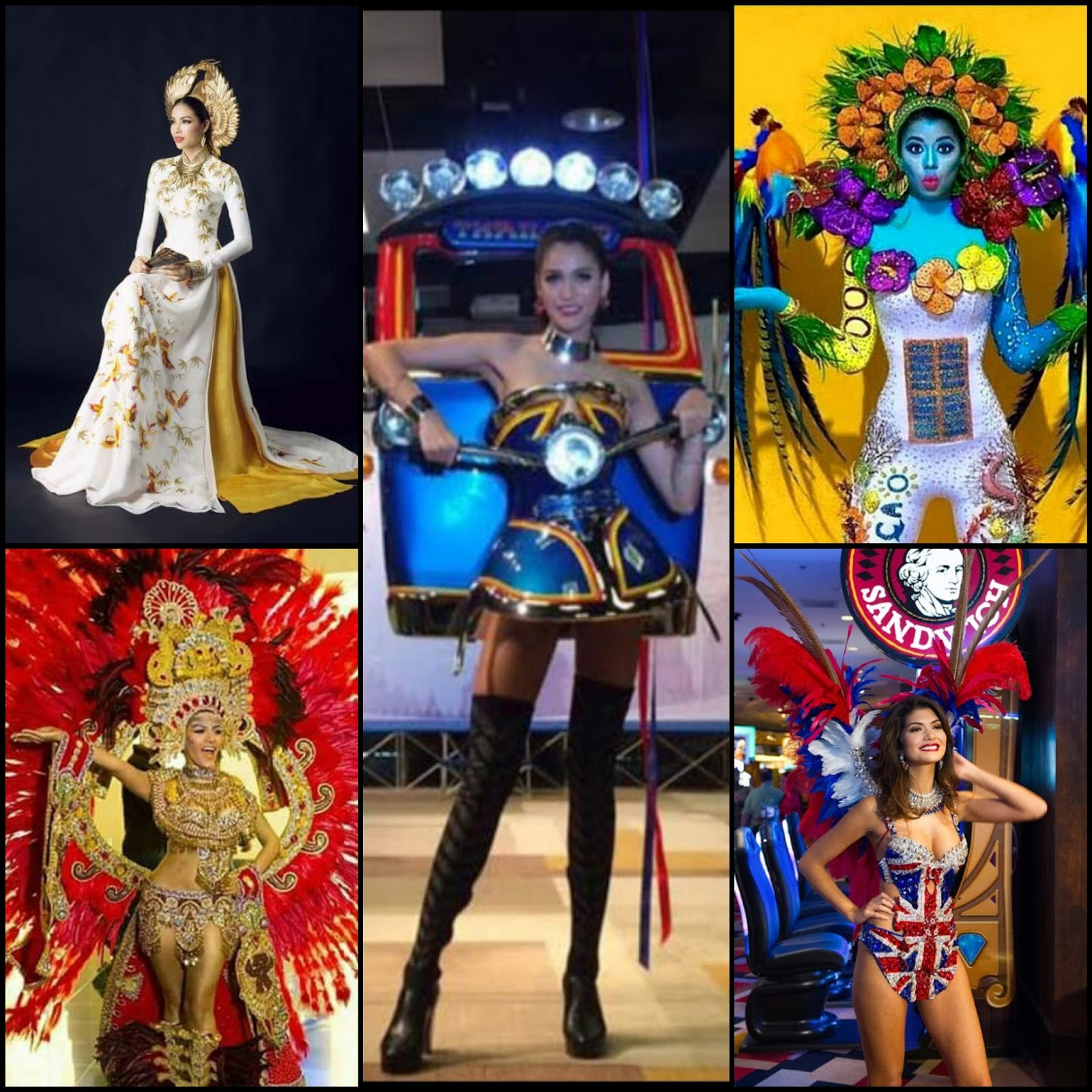 SASHES AND TIARAS     Miss Universe 2015 National Costumes