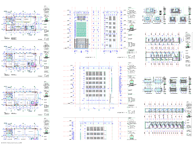 bank of several floors 3 AutoCAD dwg