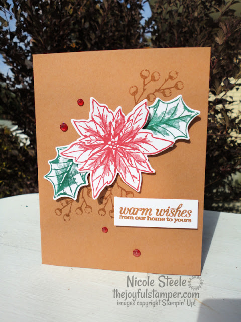 clean and simple, poinsettia petals, poinsettia dies, poinsettia petals bundle, stampin' up!, how to stamp, how to make a card, hobbies, papercrafting, papercrafts, nicole steele, the joyful stamper, independent stampin' up! demonstrator from pittsburgh pa