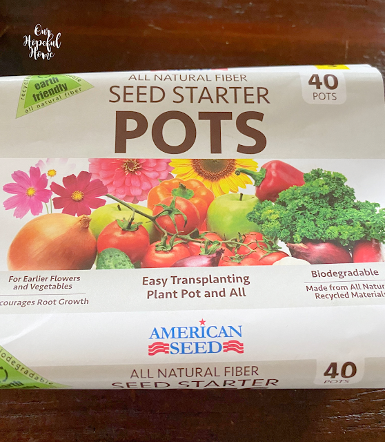 all natural fiber seed starter pots
