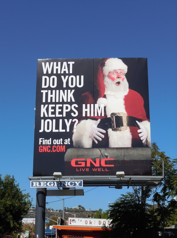 Jolly Santa GNC billboard