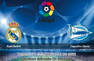 Prediksi Real Madrid vs Deportivo Alaves 11 Juli 2020