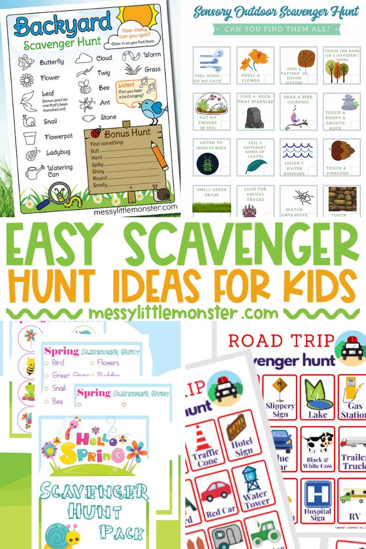 Easy scavenger hunts for kids
