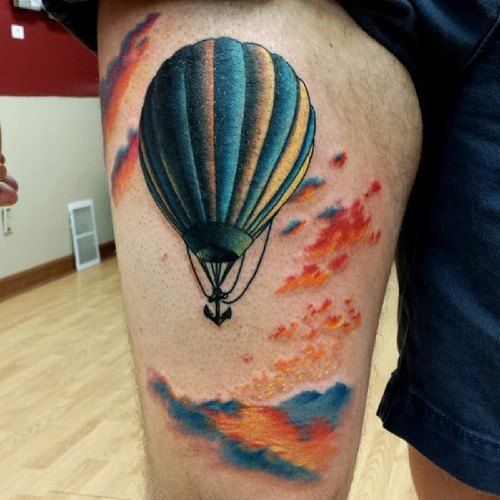 What does the hot air balloon tattoo pattern mean