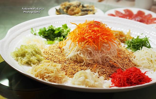 Tuna and Crispy Fish Skin Yee Sang