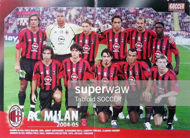 AC Milan Team Squad 2004